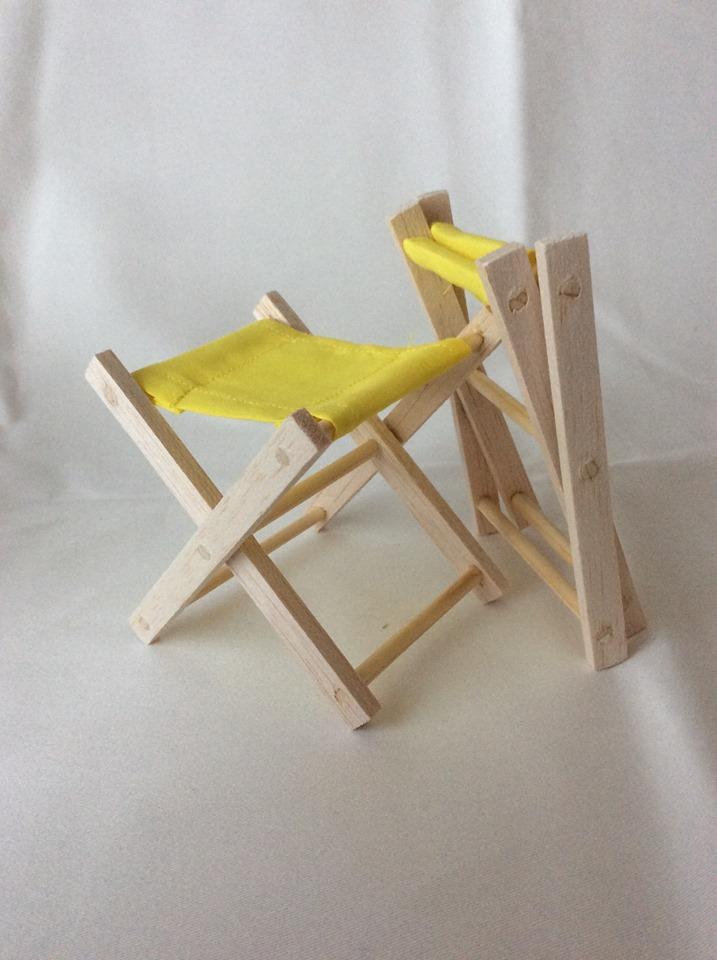 Amazing Folding Wooden Stool Yellow Short Links Chair Design For Home Short Linksinfo