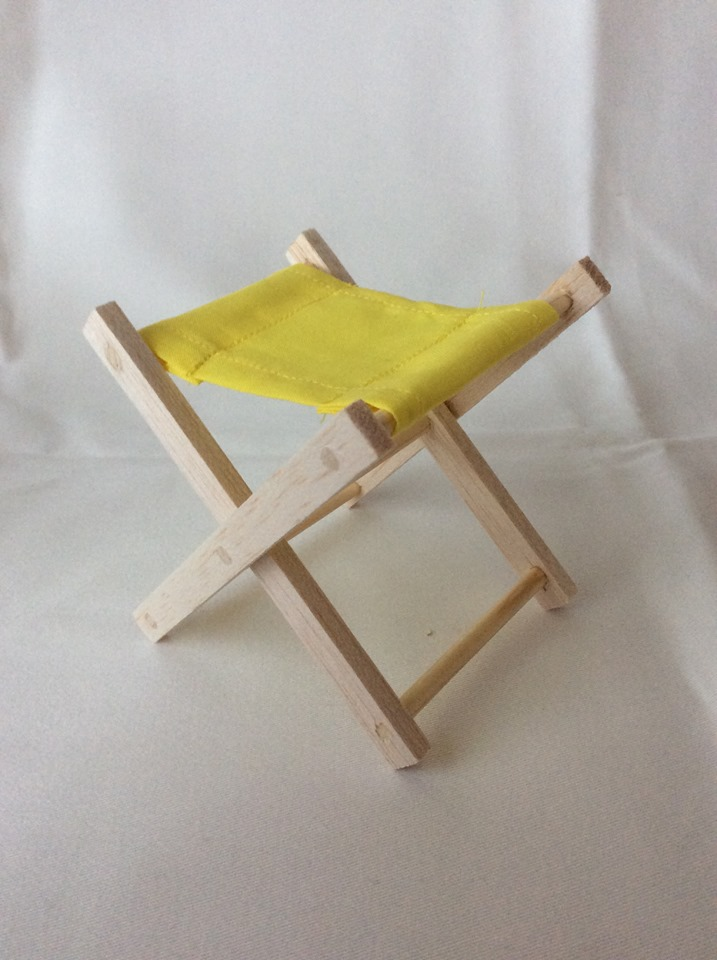 Folding Wooden Stool (Yellow)