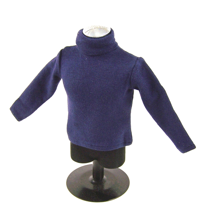 1//6 Male Body Dark Blue Knitted Sweater Long Sleeve for 12/'/' Sideshow Figure