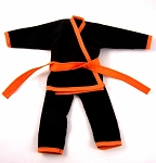 Karate Outfit Set (Black/Orange)