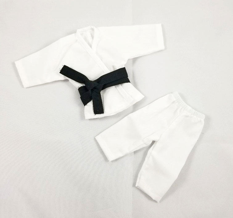 Short Sleeve/Leg Karate Outfit Set (White)