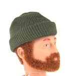 Stocking Cap: Knit Olive Drab