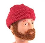 Stocking Cap: Knit Red