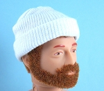 Stocking Cap: Knit White