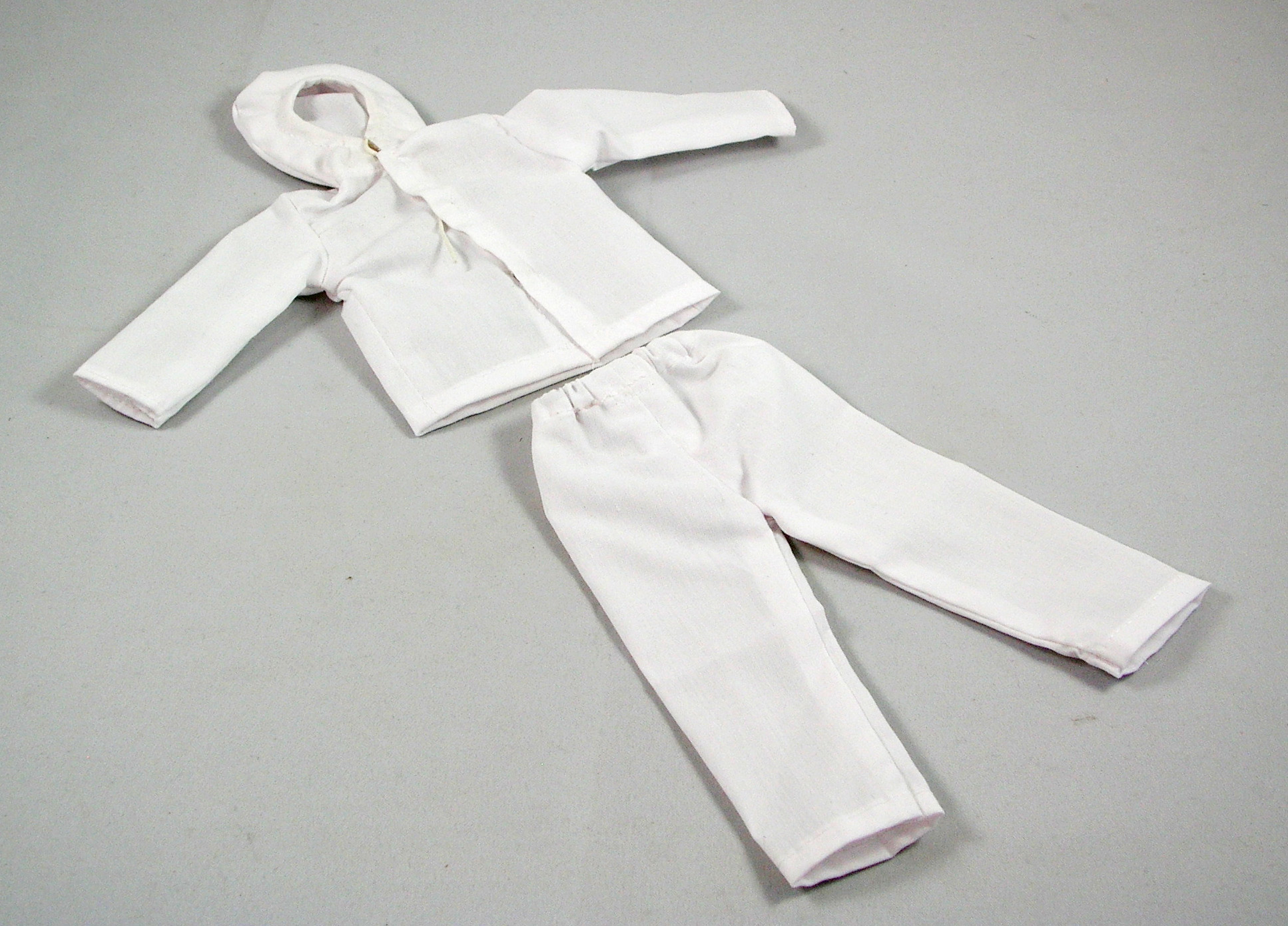 Hooded Jacket and Overpants Set (White)