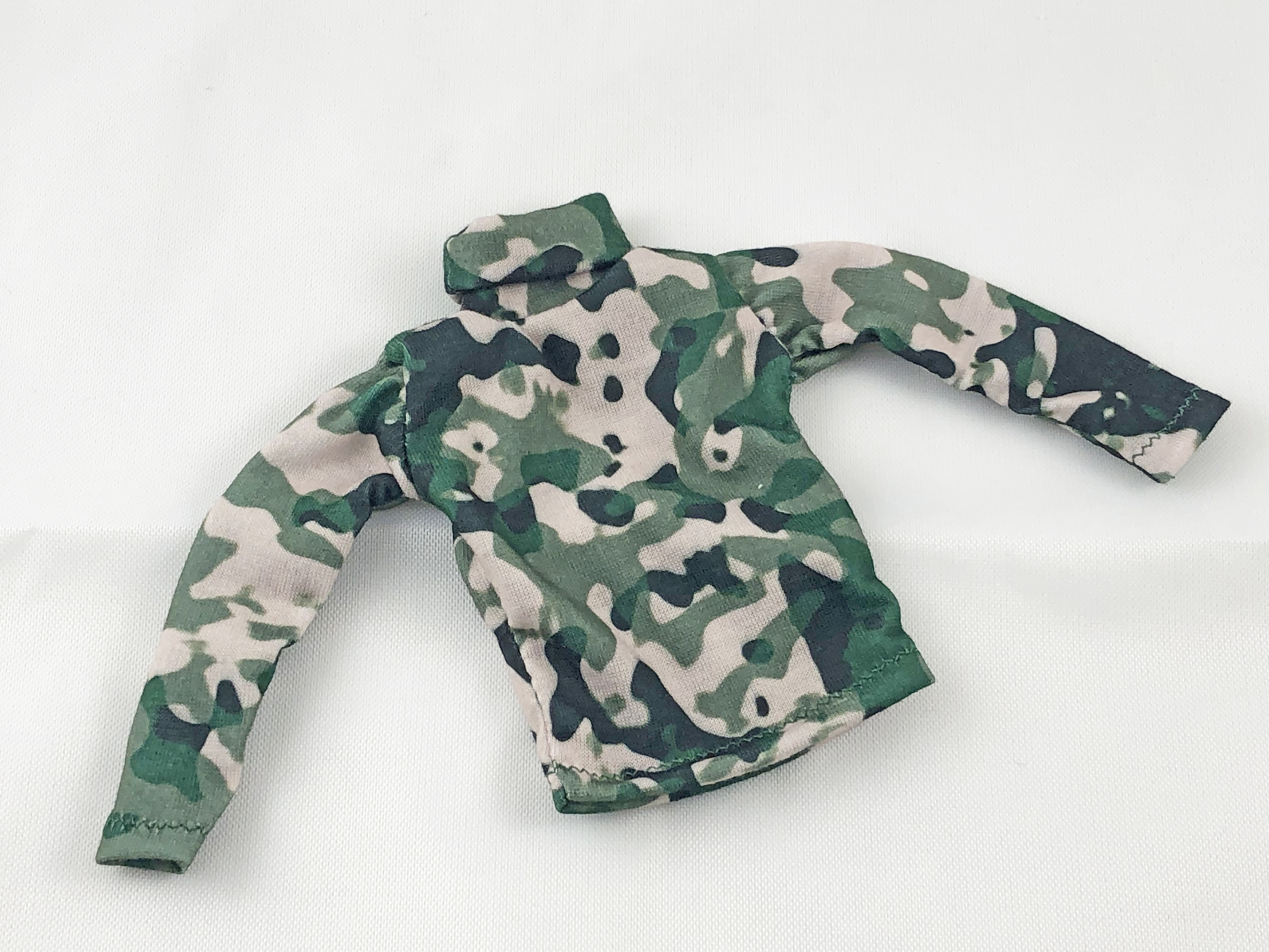 Turtleneck Shirt: Camo Long Sleeve