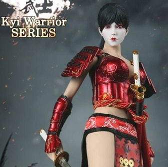 Warring States of Japanese Women Warrior Suit (Red) & Head Sculpt
