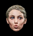 Female  Head Sculpt (Puckered Lips Expression)<BR>PRE-ORDER: ETA Q4 2018