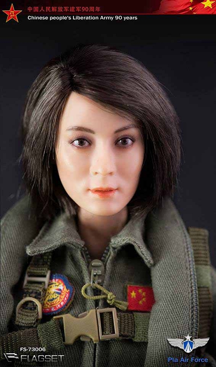 Chinese Pla Air Force Female Aviator 1 6 Scale Chinese
