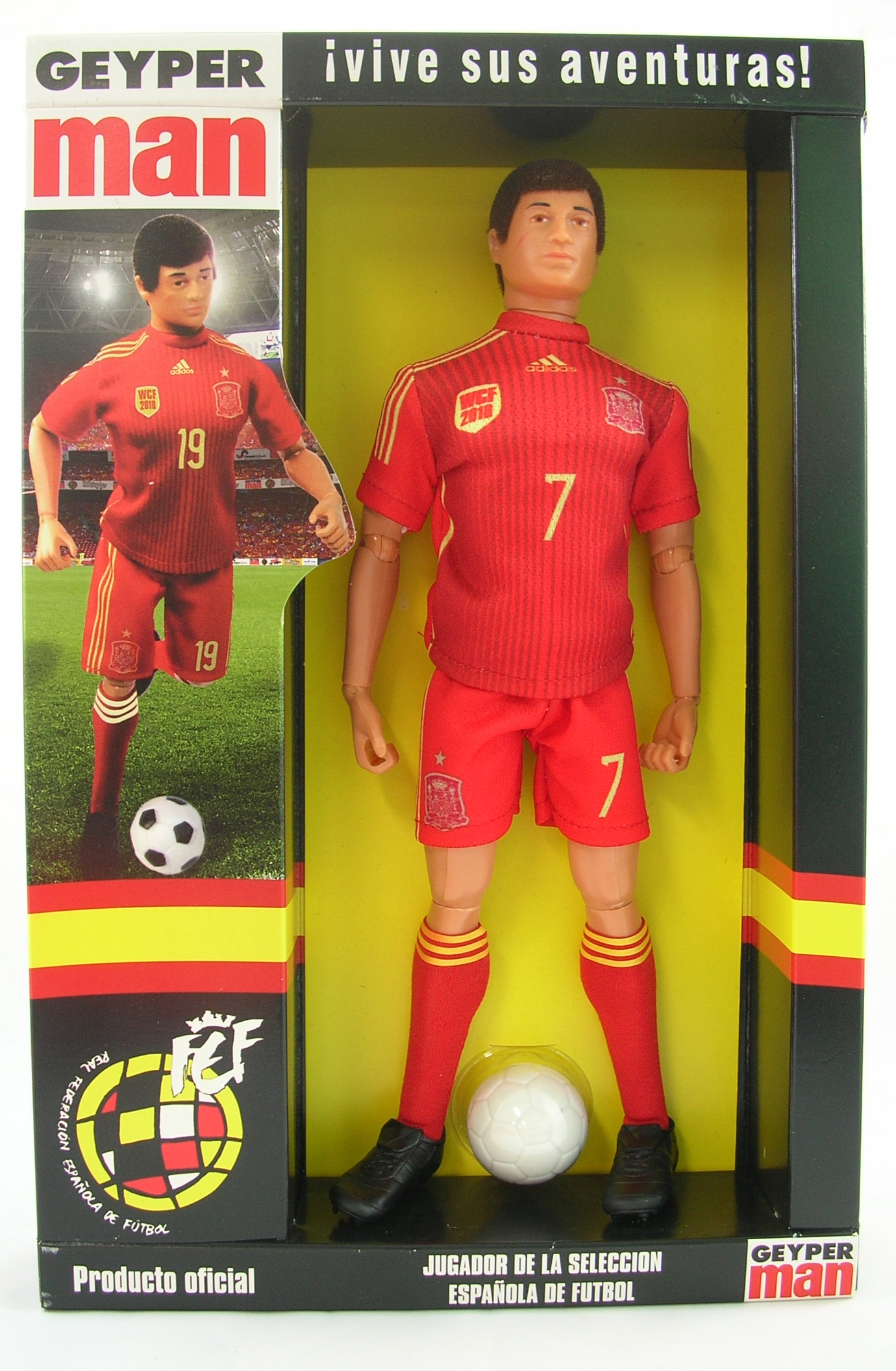 Spanish Soccer Team Player (All Red Uniform)