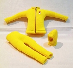 Yellow Scuba Outfit Set (Yellow Zipper)