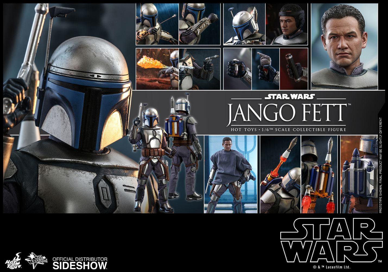 Jango Fett 1//6 Scale Toy STAR WARS ALL Black Male Base Body