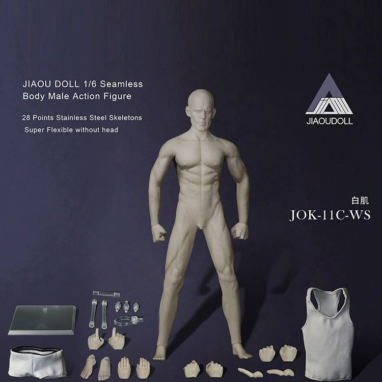 1//6 Play Toy MB001 Male Doll Strong Muscular Doll 12/'/' Double-jointed Arm Body