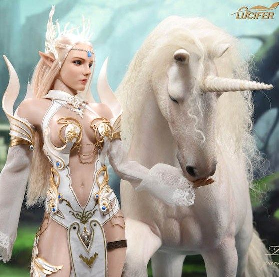 Elf Queen Emma with Unicorn (Queen Version)<br>PRE-ORDER: ETA Q4 2019<BR>WAIT LIST