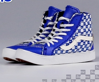 Sk8 Shoes (Blue Checkered)