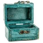 Wooden Trunk (Small, Turquoise)