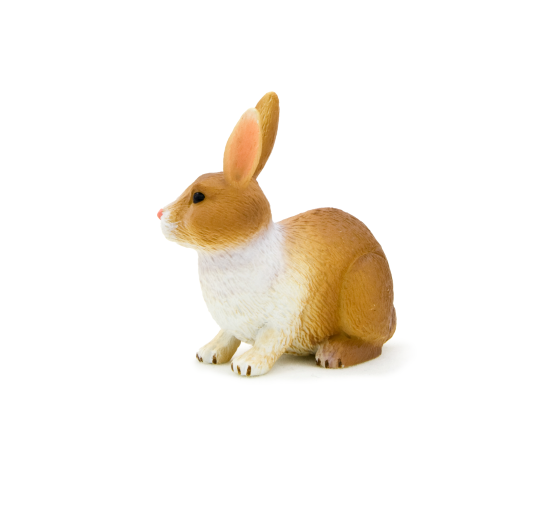Rabbit (Brown and White)<BR>PRE-ORDER: ETA Q4 2019