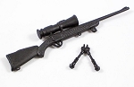 Rifle with Scope and Bipod (Black)