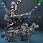 SEAL Team Navy Special Forces HALO Night Ops with Dog