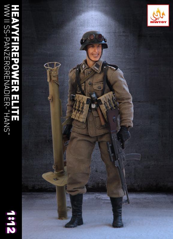 1:6 WW2 Grenade Type explosif Anti Tank Dragon DID Action Figure
