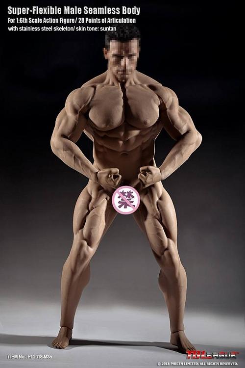 TBLeague 1//6 Phicen Super Flexible Steel Male Muscular Seamless Body M36 B Ver