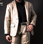 Tan and Black Designer Sport Suit