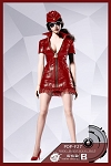 Sexy War Women Suit (Red Leather)<br><b>25% Off!</b>