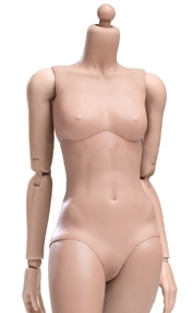 Super Flexible Female Body<BR>Sun Tan - Small Bust