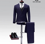 Western Style Dress Suit Set  (Navy Blue)<BR>PRE-ORDER: ETA Q3 2019