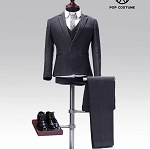 Western Style Dress Suit Set  (Gray)<BR>PRE-ORDER: ETA Q3 2019