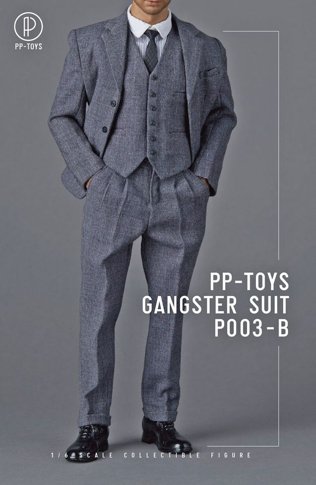 1920s Gangster Outfit Set (Dark Grey)<BR>PRE-ORDER: ETA Q4 2020