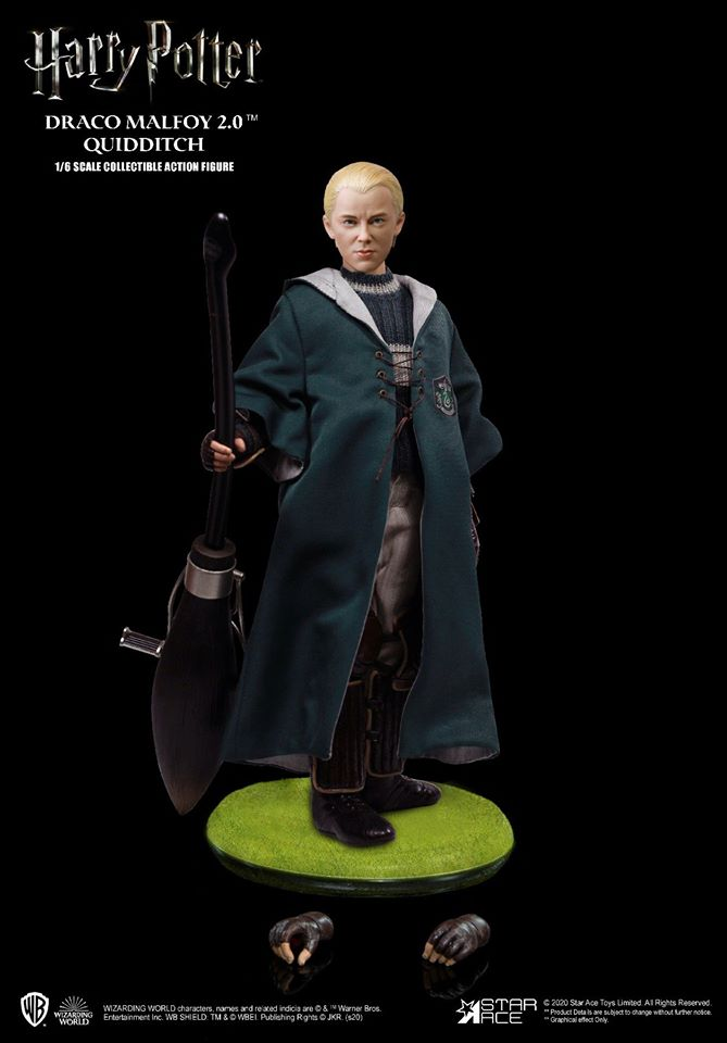"NEW Harry Potter Chamber of Secrets 10 /"" Draco Malfoy Action Figure Quidditch"