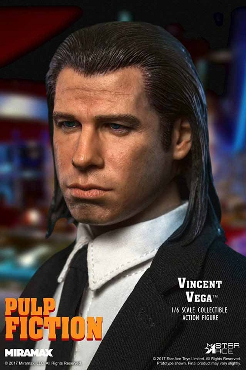 STAR ACE Vincent Vega Pulp Fiction Black Tie loose 1//6th scale