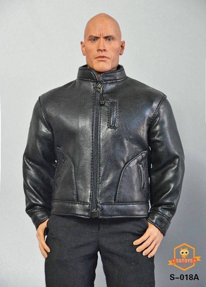 Men's Leather Jacket Outfit Set (Black)<BR>PRE-ORDER: ETA Q4 2020