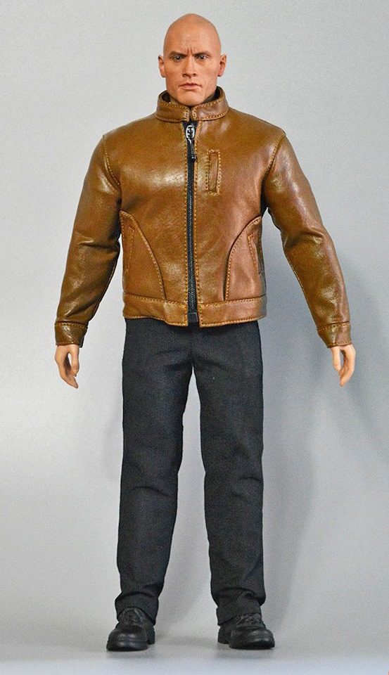 Men's Leather Jacket Outfit Set (Brown)<BR>PRE-ORDER: ETA Q4 2020