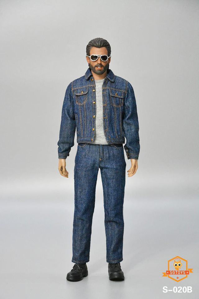 Men's Denim Outfit Set (Blue)<BR>PRE-ORDER: ETA Q4 2020