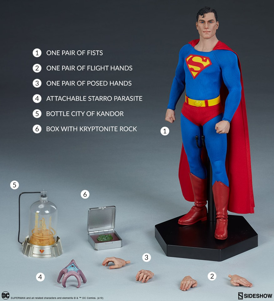 "DC Collect Superman Movie 7/"" inch Action Figure DC Comics Superman B"