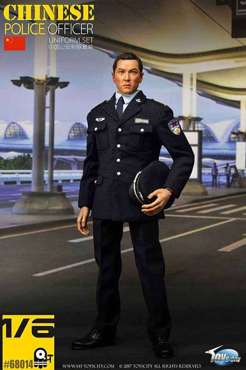 Police Officer Uniform Set Chinese Unit 1 6 Scale