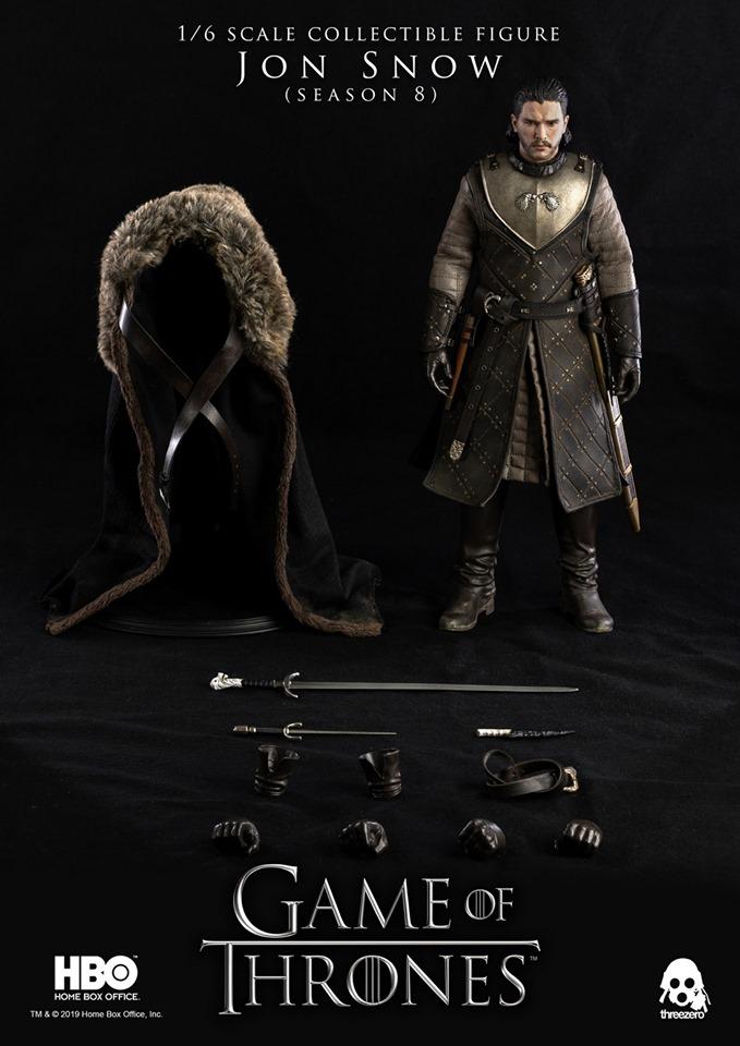 Jon Snow Game of thrones saison 8 HBO 1//6 Scale Collectible Figure par ThreeZero