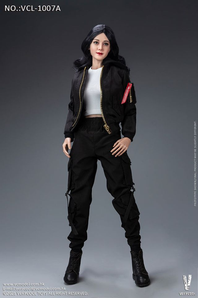 12 Action Figure Female Modern Style Black Outfit 1