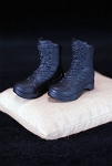 Women's Combat Boots<BR>(Black/Molded)