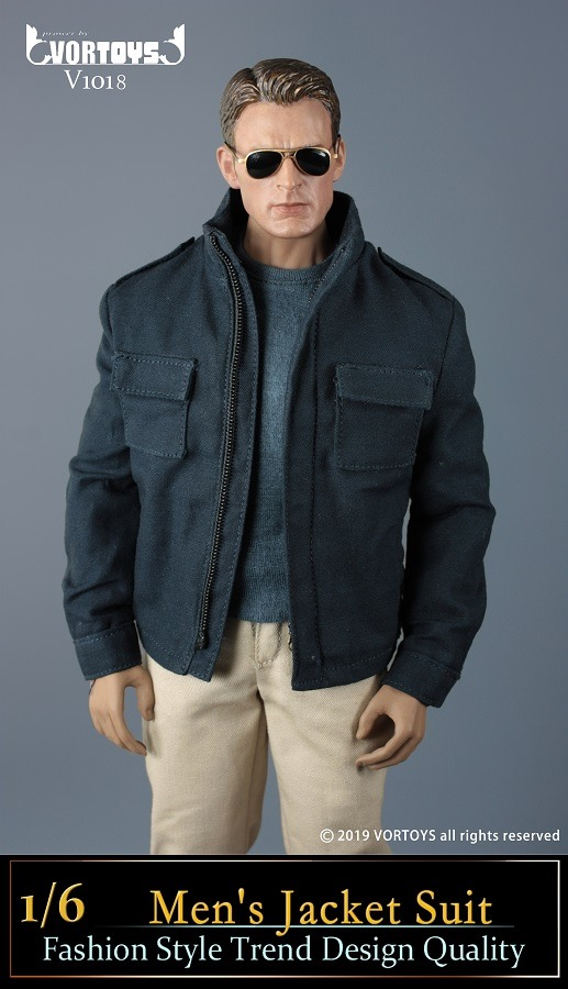 Men's Blue Jacket Outfit Set<BR>PRE-ORDER: ETA Q1 2020