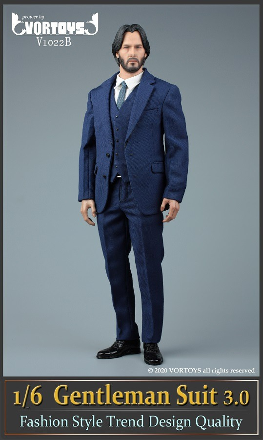 Men's Three Piece Suit (Series 3): Blue<BR>PRE-ORDER: ETA Q4 2020