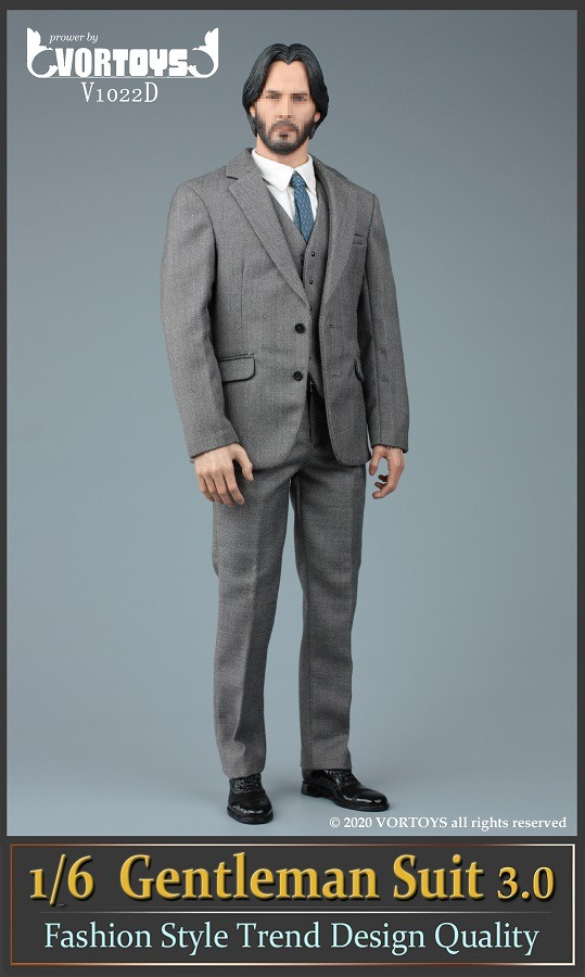 Men's Three Piece Suit (Series 3): Gray<BR>PRE-ORDER: ETA Q4 2020