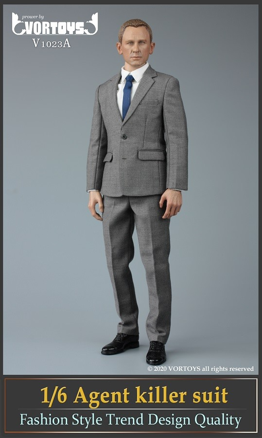 Male Agent Suit Set (Gray)<BR>PRE-ORDER: ETA Q1 2021
