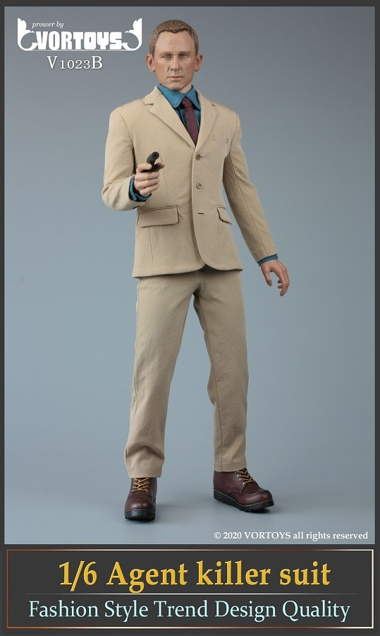 Male Agent Suit Set (Tan)<BR>PRE-ORDER: ETA Q1 2021