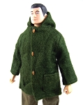 Green Winter Parka w/hood, Action Man