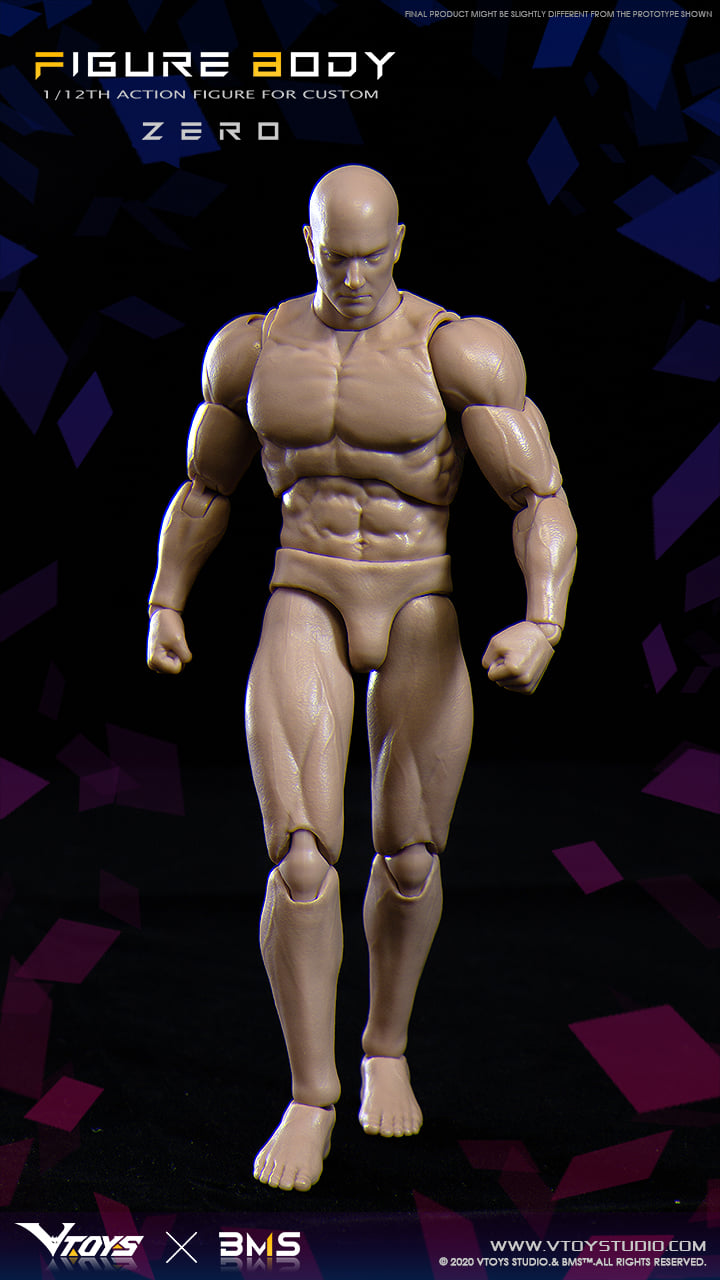 Action Figure Body Zero (1:12 Scale)<BR>PRE-ORDER: ETA Q2 2021