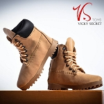 Female Mountain Boots (Tan Smooth Finish)<BR>PRE-ORDER: ETA Dec. 2018