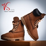 Female Mountain Boots (Brown Suede )<BR>PRE-ORDER: ETA Dec. 2018